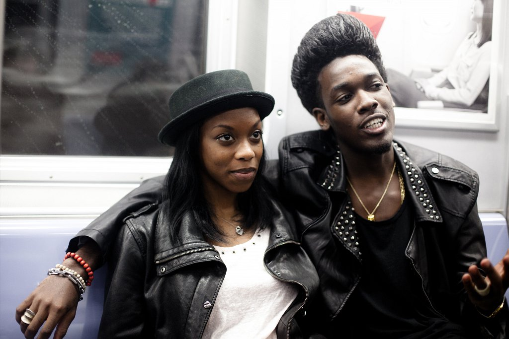 Adrian and Antwanette on the Q Train