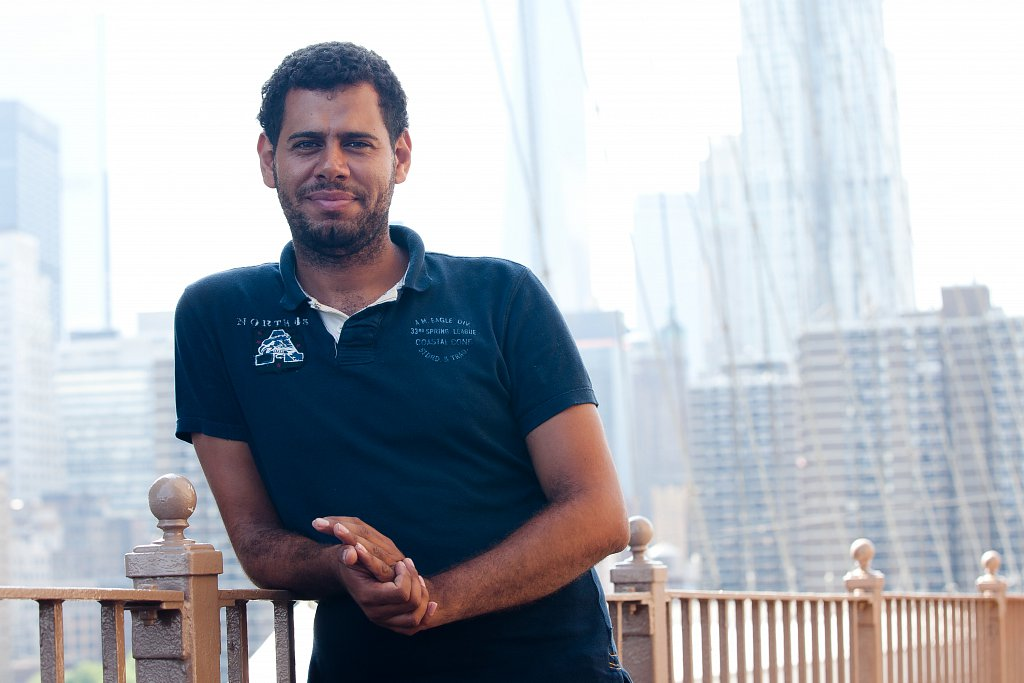Ahmed at Brooklyn Bridge