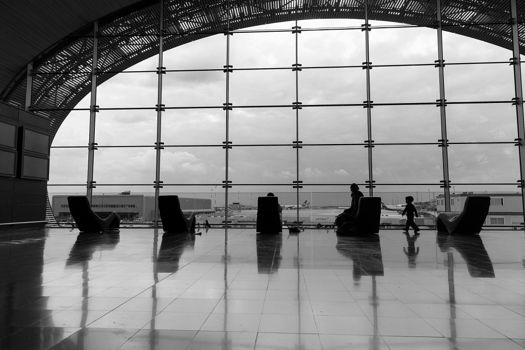 Waiting at CdG