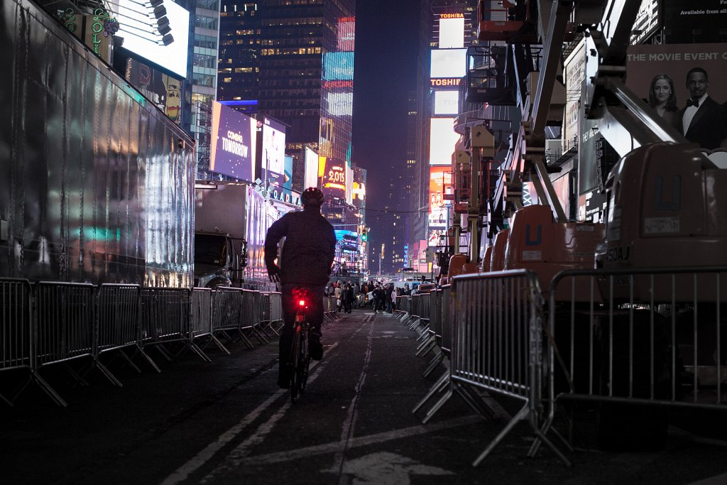 Biking Times Square