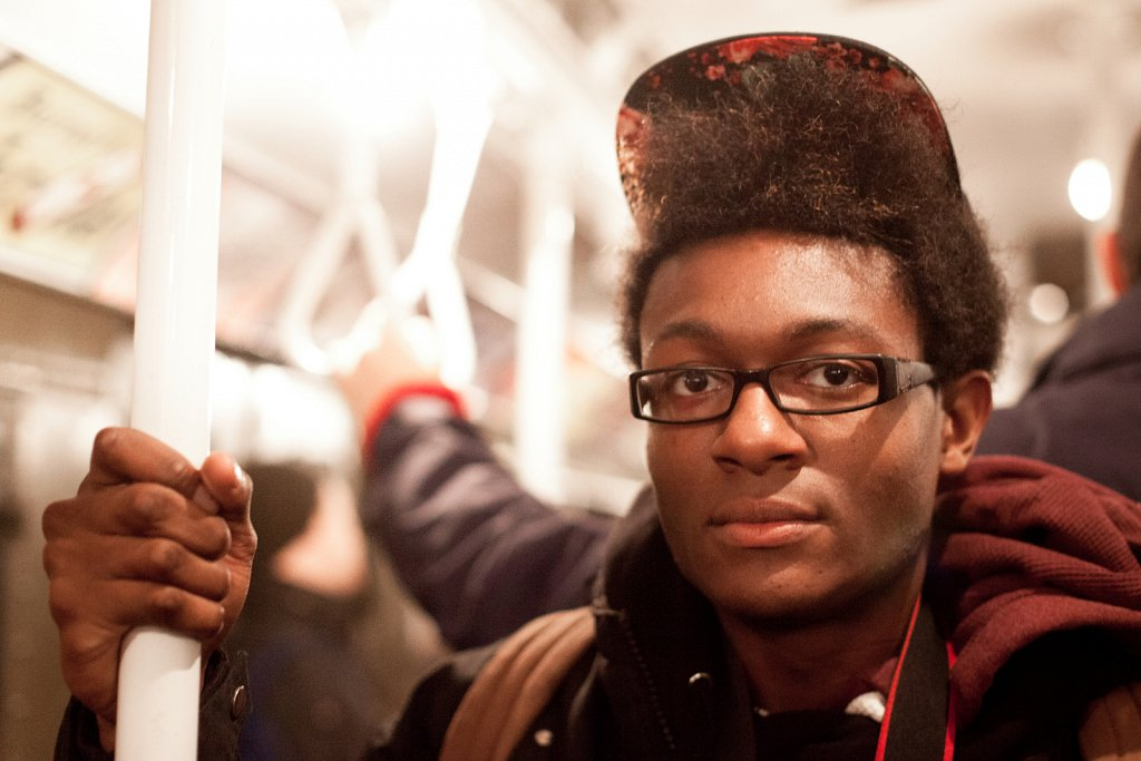 Hakim, from Brooklyn, on the Holiday Train