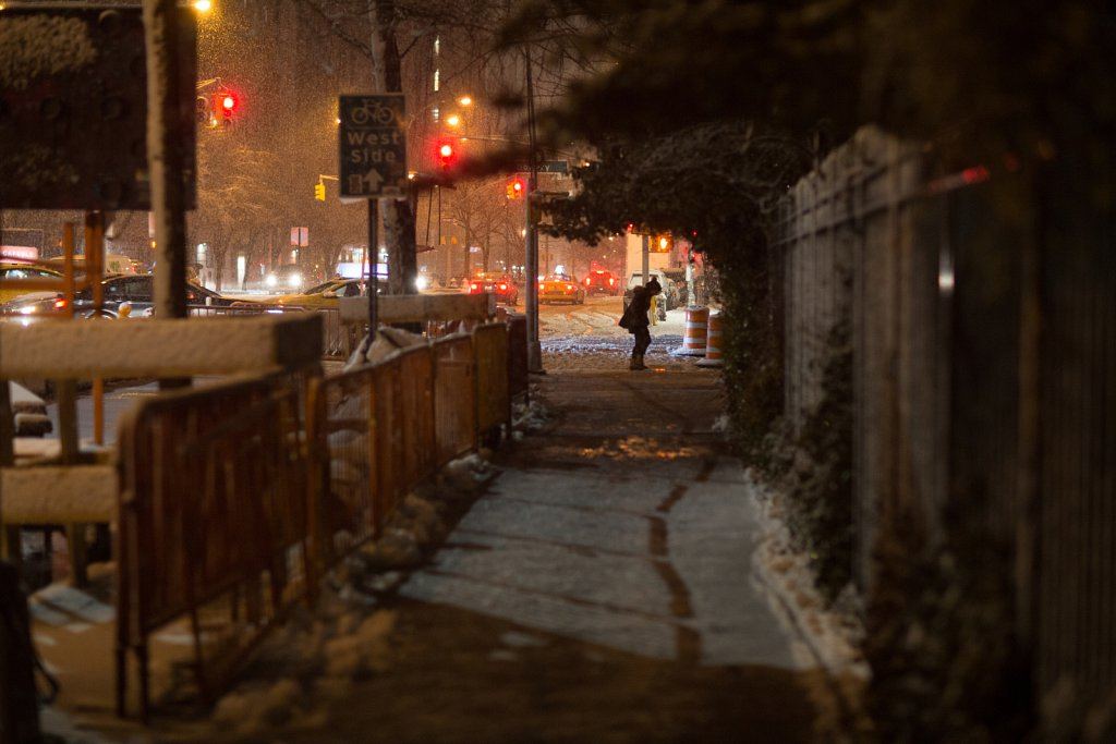 A Snowy Night in the East Village