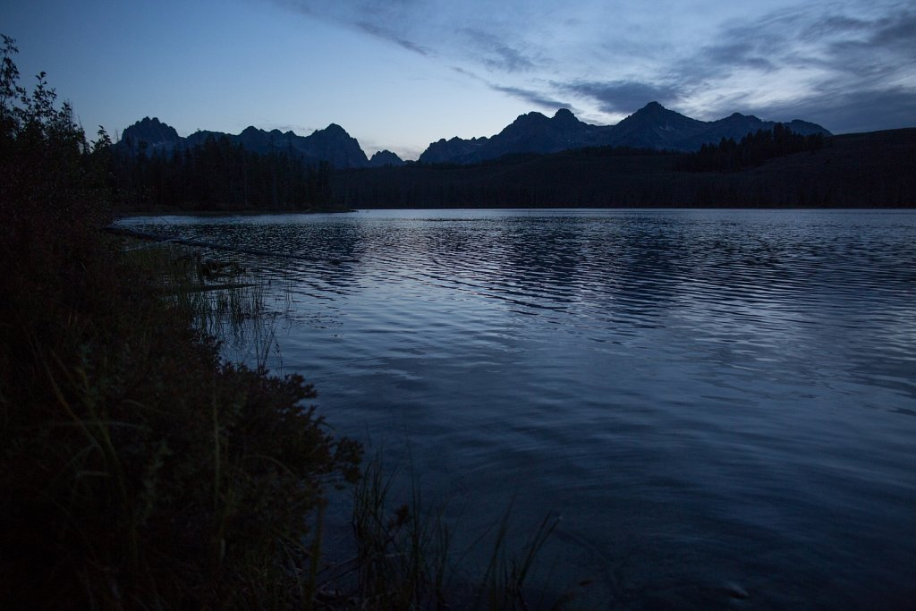 Blue Hour at Redfish Lake